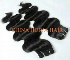 High quality Indian virgin remy human hair weft