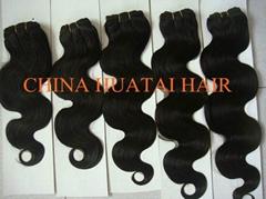 High quality Brazilian remy virgin human hair weft