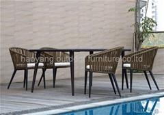 户外餐桌椅(6椅+1长台)