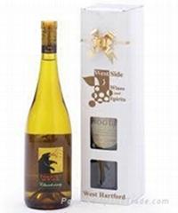 Paper cardboard wine  packaging gift box