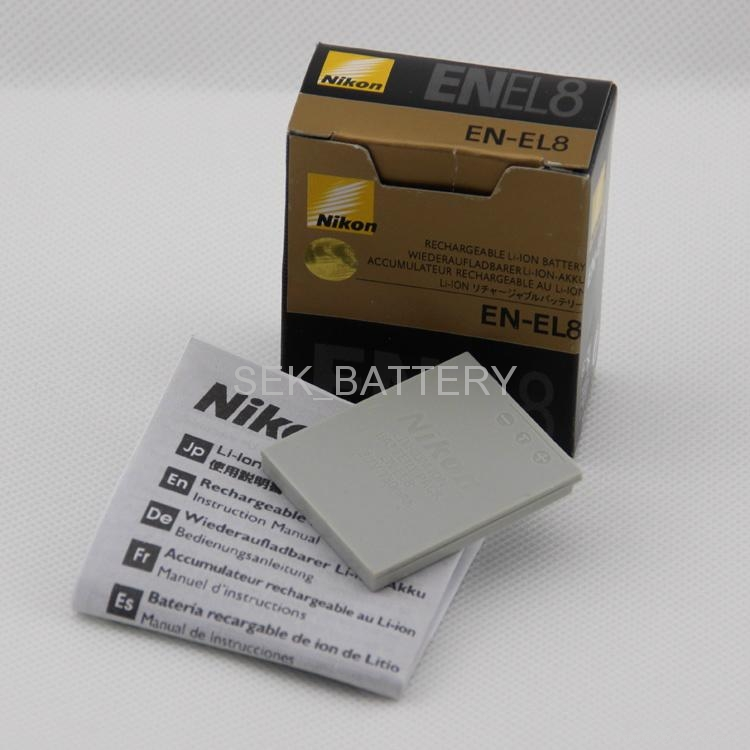 Battery for Nikon COOLPIX S1 S2 S3 S5 S6 S7 S8 S9 L1 L2 NIKON EN-EL8 1