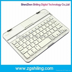 iPad mini Wireless Bluetooth keyboard, with stand, Aluminum keyboard