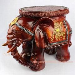 Resin Elephant Stool Resin Craft & Home Decoration Fashion Gifts