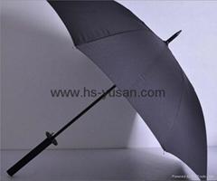 直杆碰击布伞