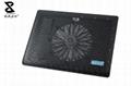 One fan black laptop cooler