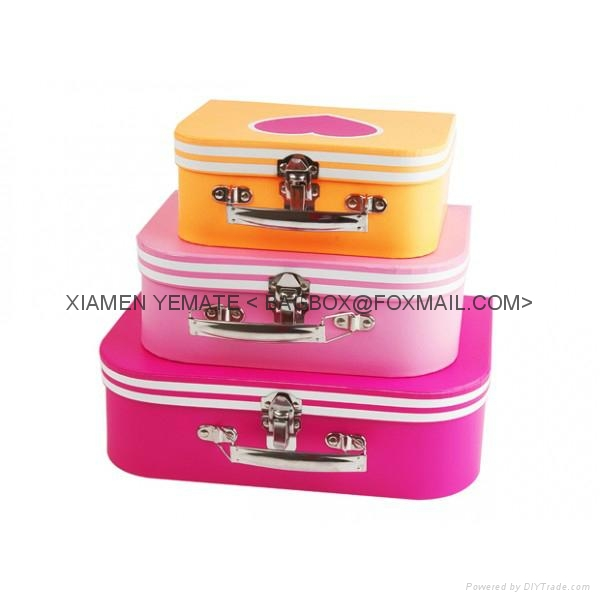Popular Nice Paper Cardboard Suitcase with Handle for Kids Toy ...