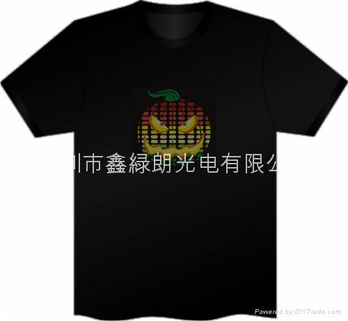 EL发光声控T恤 2