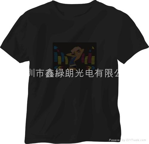 EL发光声控T恤 4