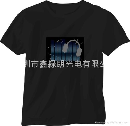 EL发光声控T恤 5