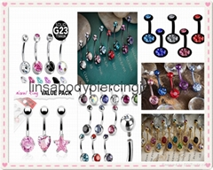 Navel belly ring body piercing jewelry