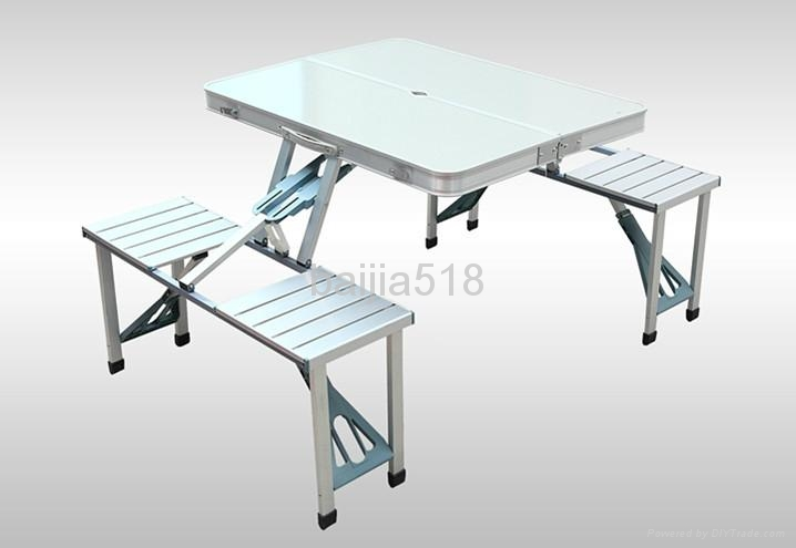 Aluminum Camping Folding Table With Chairs