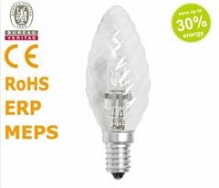 厂家直销卤素灯 节能型卤素灯 C35波纹卤素灯泡