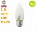 节能型卤素灯C35烛形灯泡