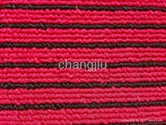 Polyester  red ribbed carpet