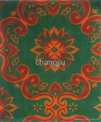 polyester  colorful printed non woven needle punched carpet