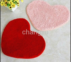 machine made polyester non woven red plain velour carpet