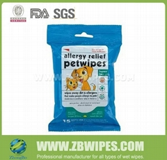 Folded Moist Pet Wipe for Cleaning Pet Stains