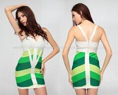 sexy ladies long sleeve celebrity bandage dress