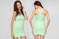 FreeShipping studded Bandage Dress nude