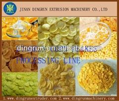Instant Crispy Cereals Corn Flakes Processing Plant