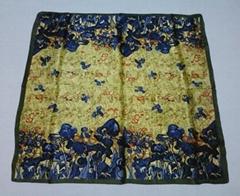 100% silk handkerchief