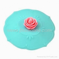 New Arrival Silicone Cup Lid with Flower Design