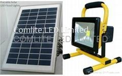 30w solar rechargeable LED flood light