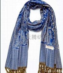 人造棉高檔圍巾披肩4