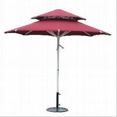 Double Layer Round Garden Umbrella