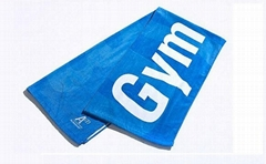 100% Cotton Velour Printed Gym Towel