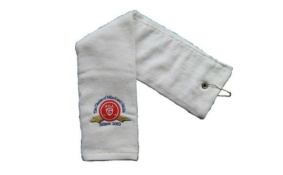 100% Cotton Velour Golf Towel with Embroidery Logo 1