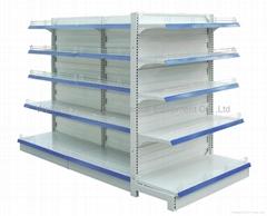 steel supermarket shelf  with double side  supermarket display