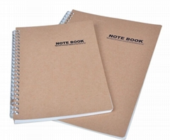 Kraft Spiral Bound Notebook