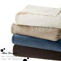Soft Polyester Microfiber Plain Coral Fleece Throw Blanket 1