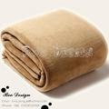 Soft Polyester Microfiber Plain Coral Fleece Throw Blanket 4