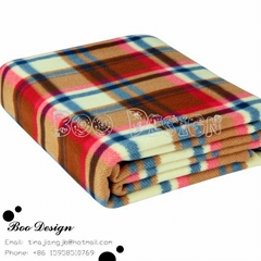 Soft Polyester Microfiber Printed Polar Fleece Blanket