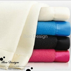 Soft Microfiber Polar Fleece Blanket with Satin Trim Binding
