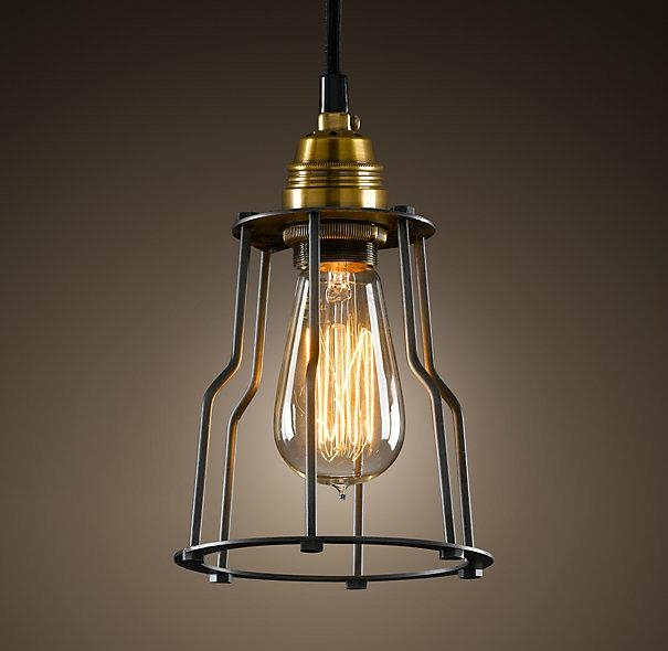 High Quality Pendant Vintage Lamp Restoration And Hardware Lighting Cage Filament 1