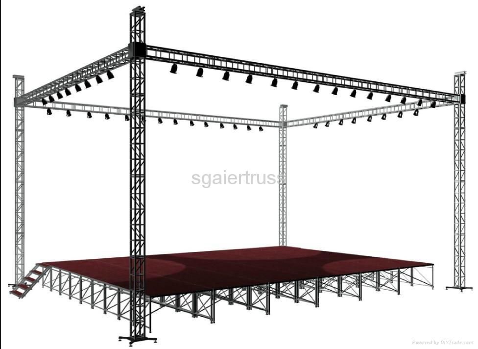 Aluminum truss lighting truss sg12 sgaier china for Buy truss