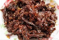 Flavored snacks beef jerky