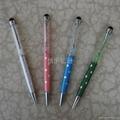 【厂家直销】水晶触屏金属圆珠笔