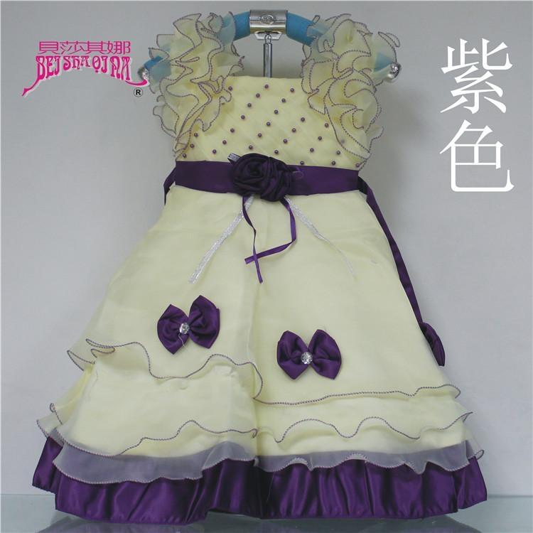 花腰帶女童公主裙 3