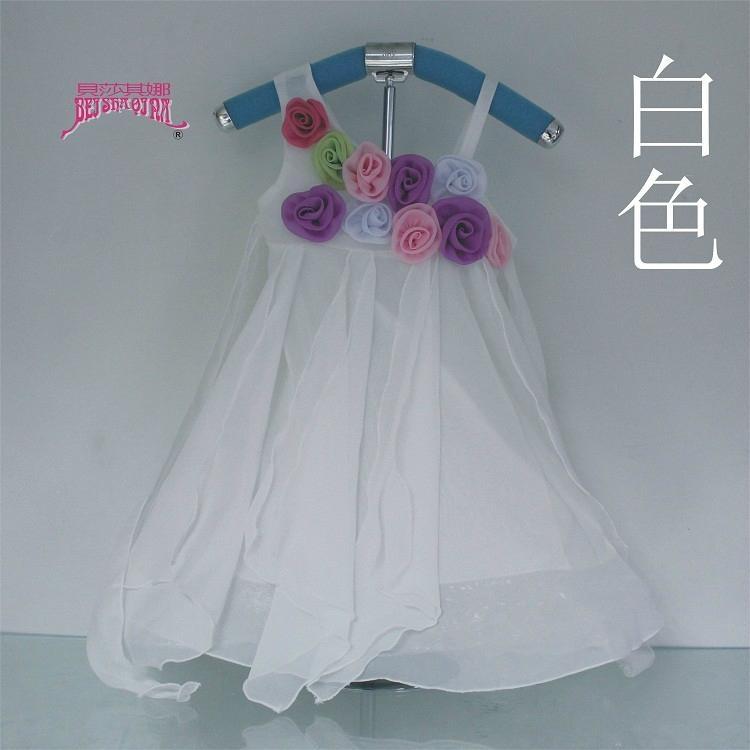 時尚女童雪紡儿童連衣裙 4