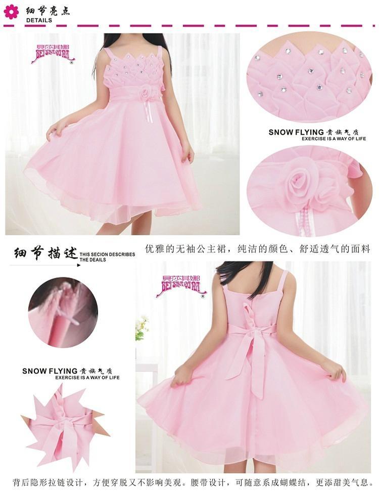 2013韓版熱銷女童紅色可愛連衣裙 2