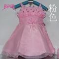 2013韓版熱銷女童紅色可愛連衣裙 5