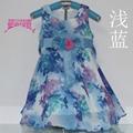真絲女童雪紡連衣裙 3