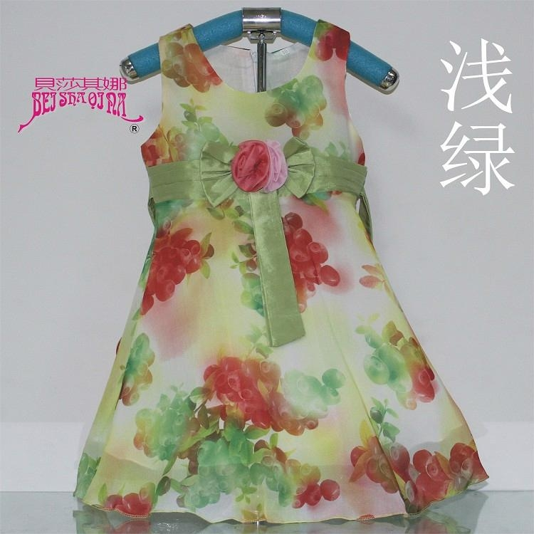 真絲女童雪紡連衣裙 4