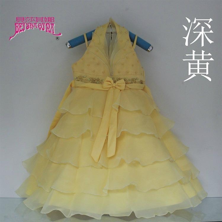 女童婚紗公主裙雪紡白色儿童連衣裙 2