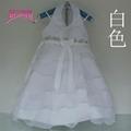 女童婚紗公主裙雪紡白色儿童連衣裙 3