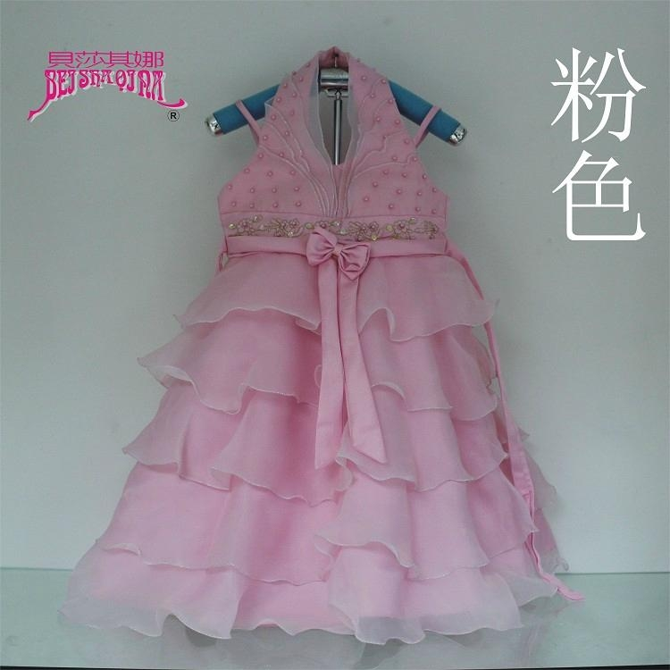 女童婚紗公主裙雪紡白色儿童連衣裙 5